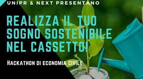 """24 maggio: hackathon di economia civile """"Realizza il tuo sogno sostenibile nel cassetto!"""""""