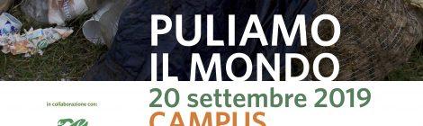 """20 settembre: grande successo di """"Puliamo il mondo"""" al Campus Scienze e Tecnologie"""
